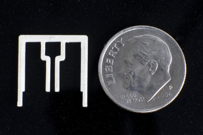An Aereo antenna is the size of a dime.