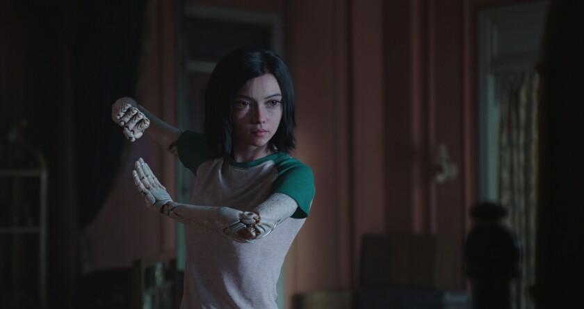 """Una escena de """"Alita: Battle Angel"""", la cinta que se estrena este 14 de febrero en salas de EE.UU."""