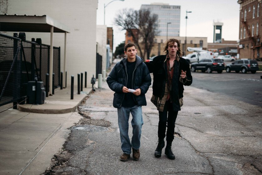 Tye Sheridan and Caleb Landry Jones in the movie 'Age Out'