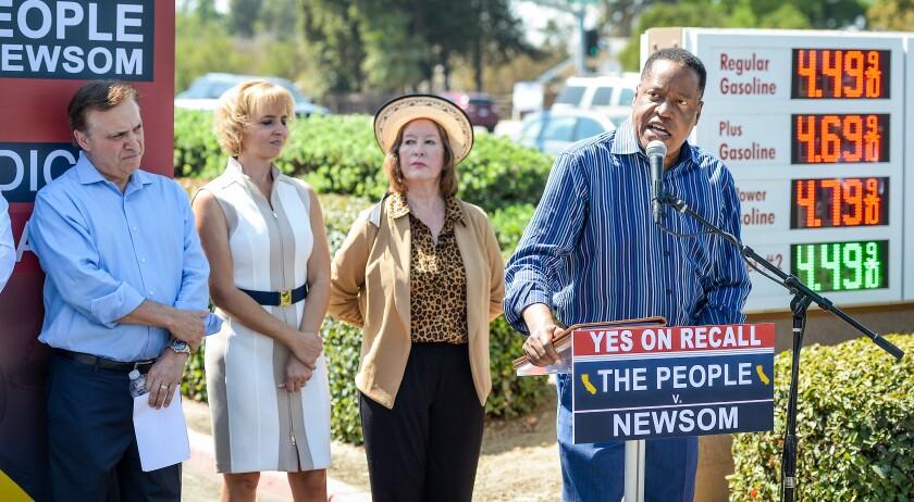 Republican candidate for California governor Larry Elder