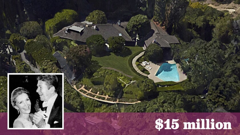 The longtime Bel-Air residence of Ronald and Nancy Reagan has sold to businessman Jerry Perenchio for $15 million,