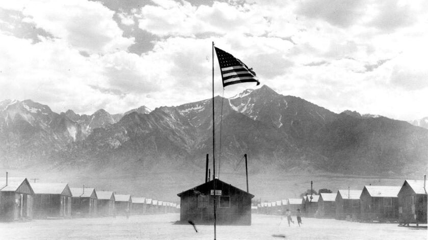 LV.1105.Manzanar6A–– LA LIBRARY FILE PHOTO–– FEBRUARY 20, 1970–– Manzanar Relocation Center, 300 mil