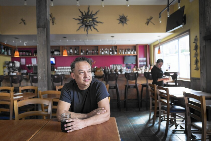 Lito Saldana, chef and owner of Los Moles, a popular Mexican restaurant in Emeryville, Calif., says he has bumped up the price of every menu item by 10% to offset rising food and labor costs.