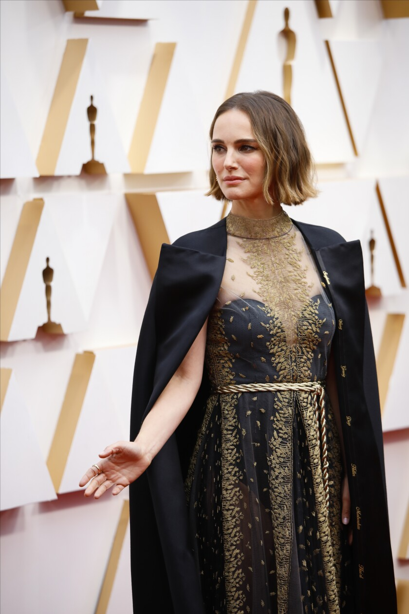 Natalie Portman on the Oscars' red carpet.