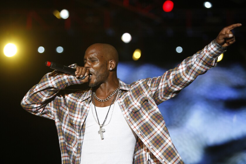 DMX performs during the first day of Rock the Bells Festival at the San Bernadino Nos Events Center.