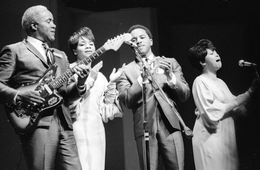 The Staple Singers perform in Newport, R.I., in 1967.