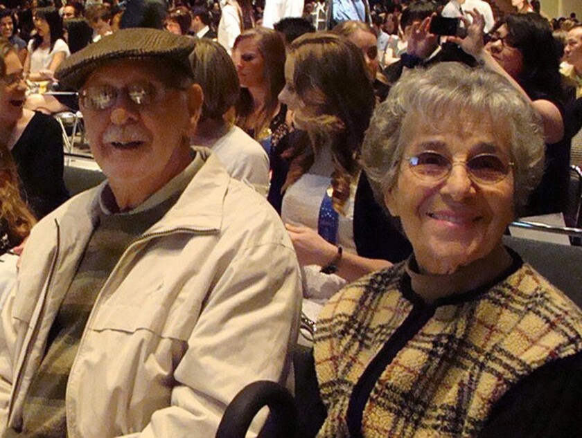 Grace Lopez, mother of the columnist, with her husband, Tony, in 2011.