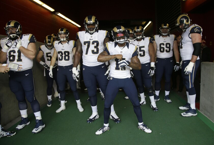 separation shoes 5618a c589a L.A. Rams plan to keep current uniforms until 2019 - Los ...