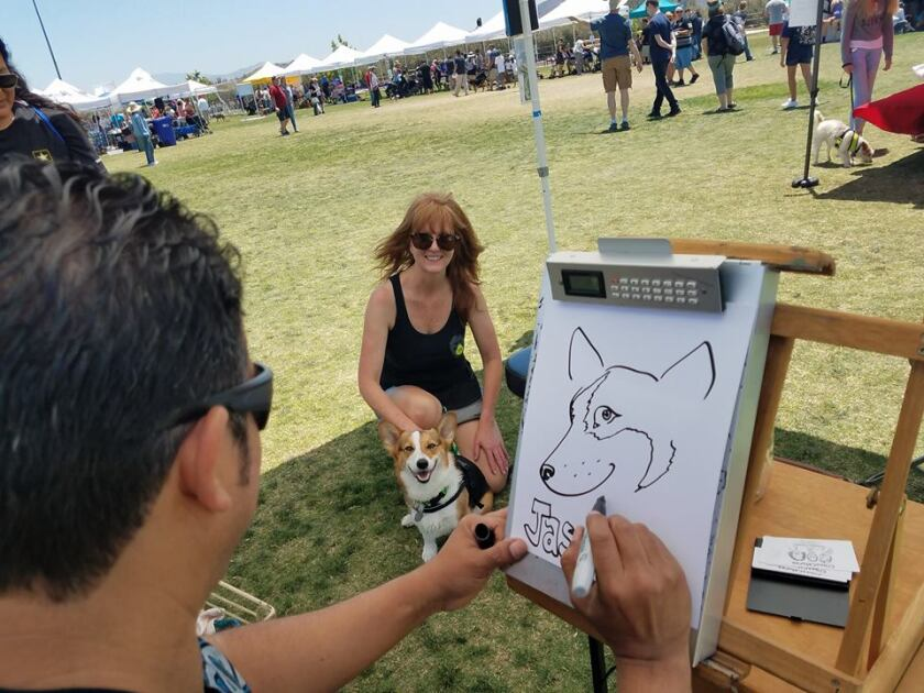 Local caricature portrait artist Crossby Vargas will be back at 'Fido Fest' on Saturday, June 8, in Santee at Town Center Community Park.