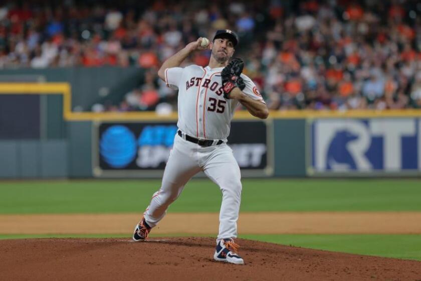 Justin Verlander, abridor de los Astros de Houston. EFE/ Jorge Campos/Archivo