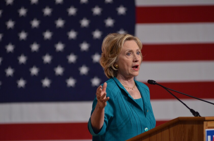Democratic presidential candidate Hillary Rodham Clinton at a campaign stop in Florida on July 31, 2015.