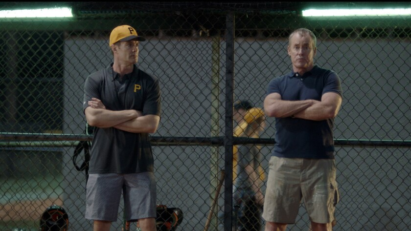 """Garret Dillahunt, left, and John C. McGinley in the movie """"Benched."""""""