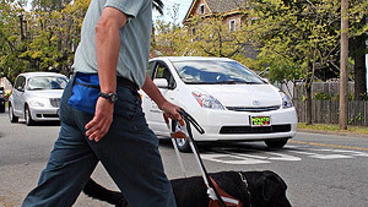 Blind pedestrians may not hear hybrid cars - Los Angeles Times