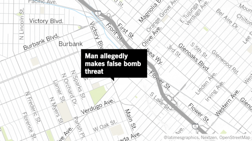 Johnathan Cook, 34, was arrested by Burbank police last Monday after allegedly trying to rob a 7-Eleven store by claiming to have a bomb strapped to his body.