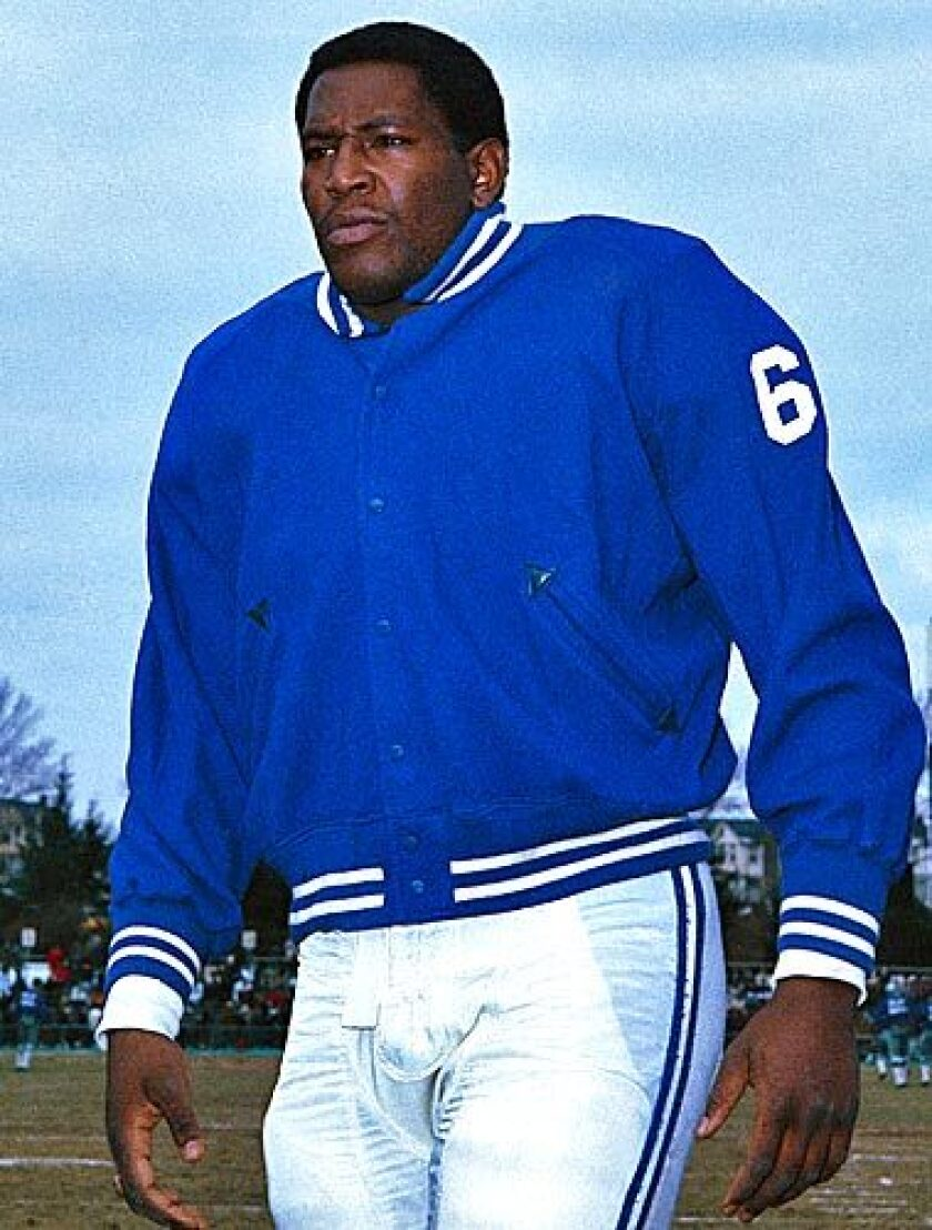 Baltimore Colts defensive tackle Bubba Smith is shown in a photo in December 1967. See obituary