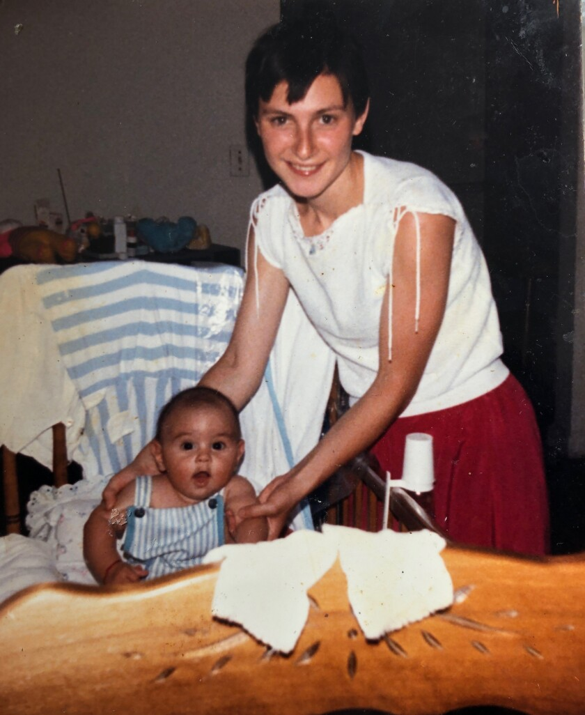 Marina Josefov with her son Daniel Jusufov approximately age 9 months. Daniel Jusufov as an adult at