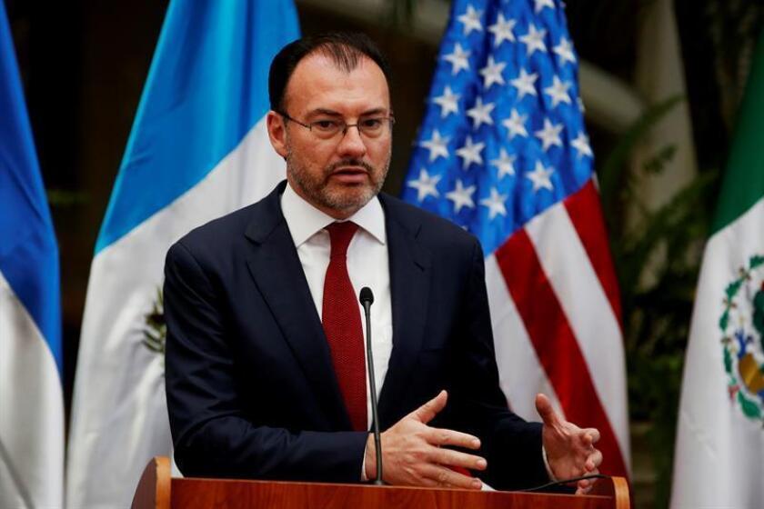 El canciller de México, Luis Videgaray, ofrece una conferencia de prensa. EFE/Archivo