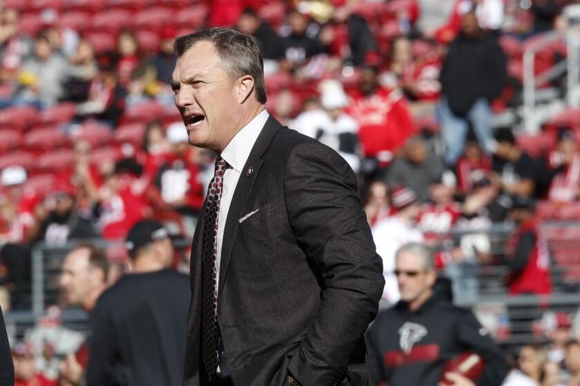 San Francisco 49ers General Manager John Lynch before Sunday's game against the Atlanta Falcons in Santa Clara.