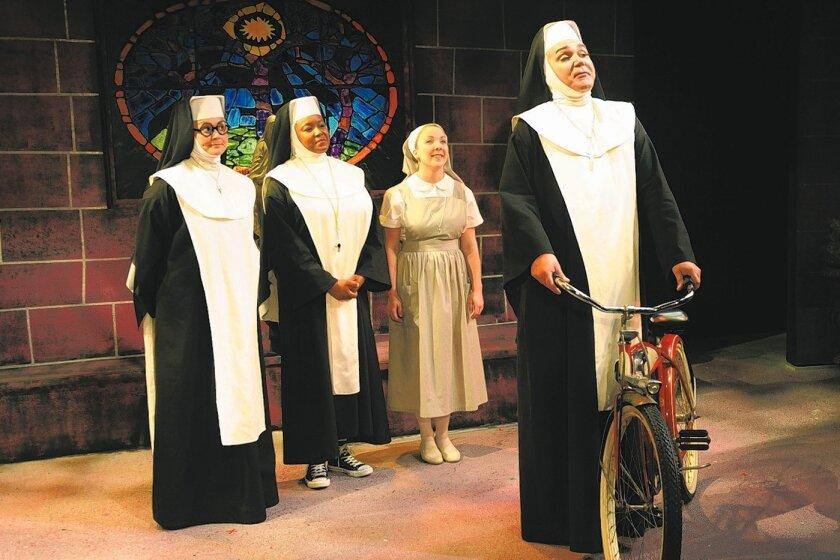 "Jacque Wilke, Yolanda Franklin, Lauren King and Daren Scott in Diversionary Theatre's ""Divine Sister."""