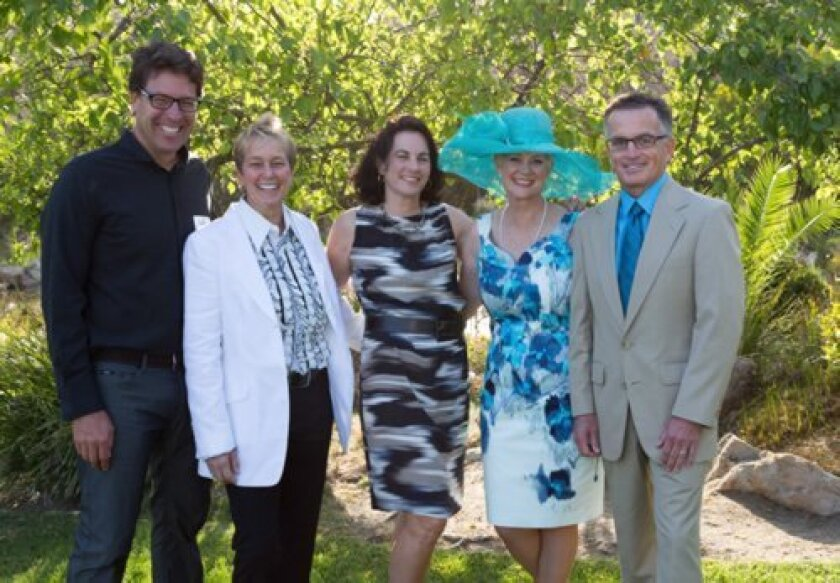 Ed Scheibler, Laura Shawver, Rachel Leheny and Julie and John Crawford. Laura and Julie of La Jolla are ovarian cancer survivors. Courtesy