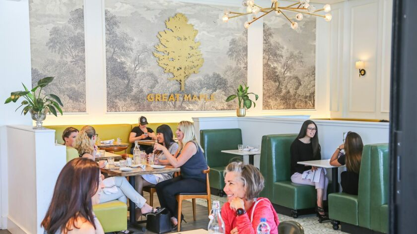 SAN DIEGO, CA June 28th, 2018 | Patrons enjoy the ambience at Great Maple restaurant at the Westfiel