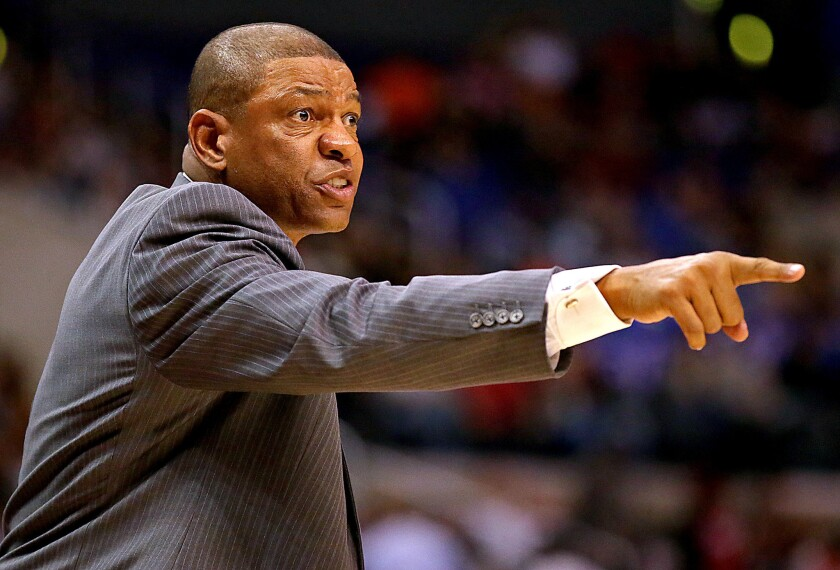 """Said Coach Doc Rivers of the Clippers chasing an NBA title despite the new controversy surrounding owner Donald Sterling: """"We're not going to let anything get in the way of those dreams."""""""