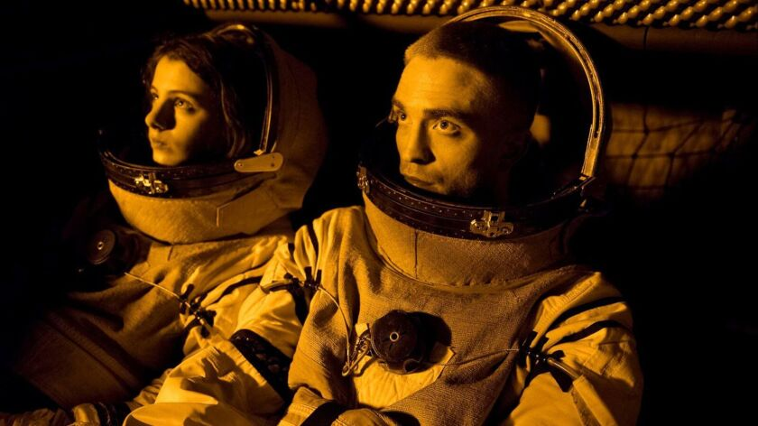 "Jessie Ross and Robert Pattinson in a scene from ""High Life,"" a movie Directed Claire Denis."