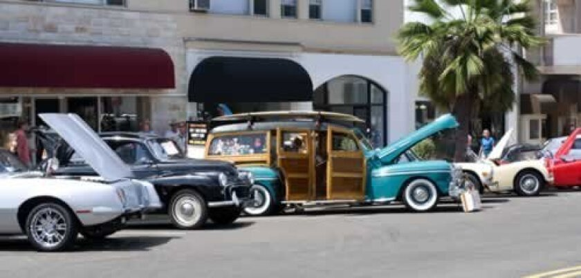 Vintage autos on display during a recent Nuts4Cars show on Girard Avenue. File Photo