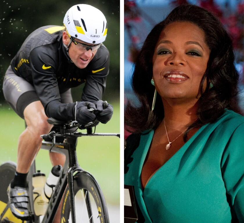 """Lance Armstrong is to be interviewed by Oprah Winfrey on an episode of """"Oprah's Next Chapter"""" scheduled to air on Jan. 17."""