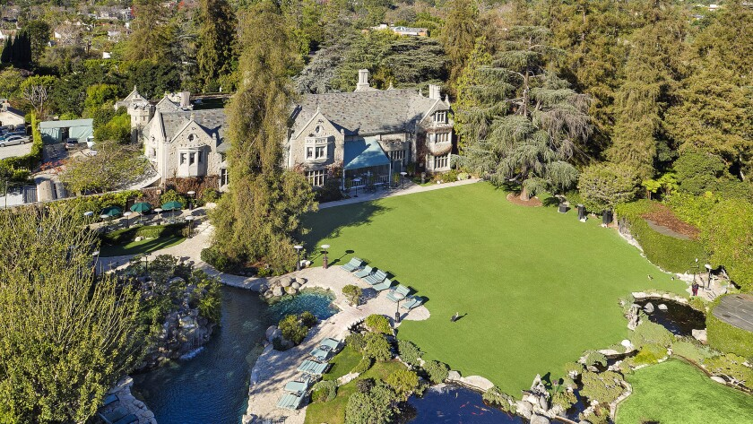Daren Metropoulos plans to reconnect the Playboy Mansion, above, to his estate next door, creating a 7.3-acre compound.
