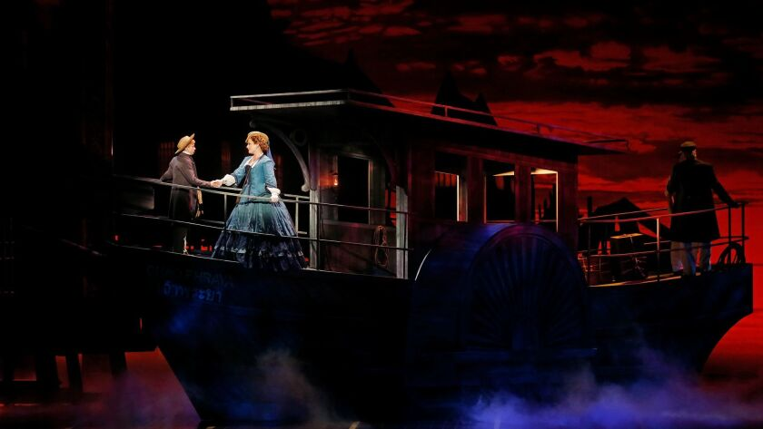 """A scene from """"The King and I"""" featuring one of Michael Yeargan's remarkable sets."""