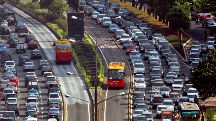 Policy change in Jakarta accidentally teaches drivers the