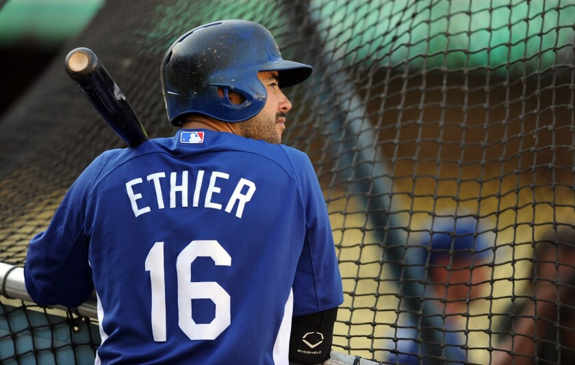 Dodgers outfielder Andre Ethier might be healthy enough to return to the lineup next week.