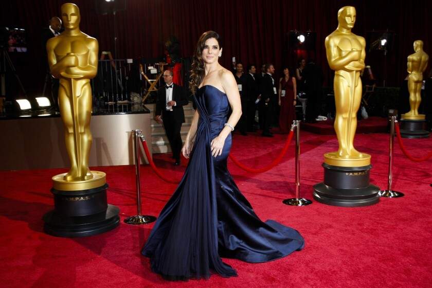Sandra Bullock arrives at the Academy Awards ceremony in Hollywood in March.