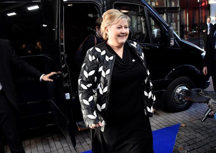 Fotografía de la primera ministra de Noruega, Erna Solberg. EFE/Archivo