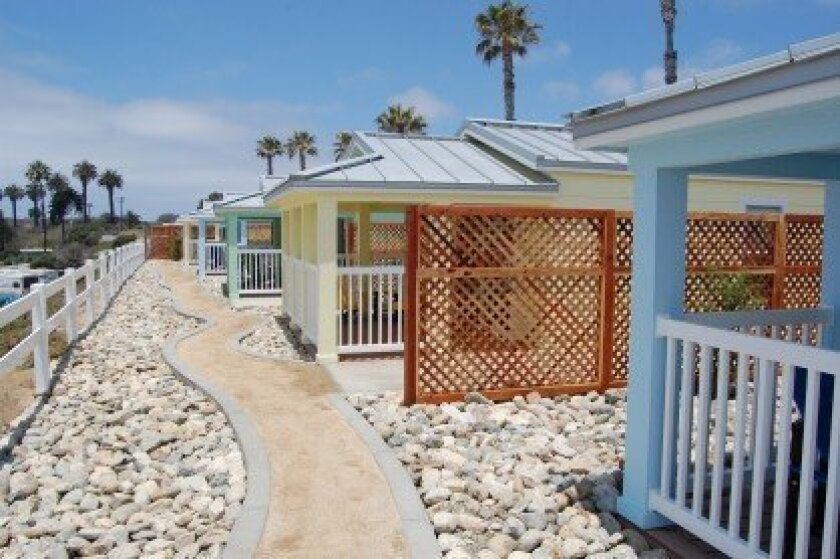 These five cottages were dedicated at Camp Pendleton on June 18, thanks to the efforts of Bob Clelland and other volunteers and donors. Courtesy photos