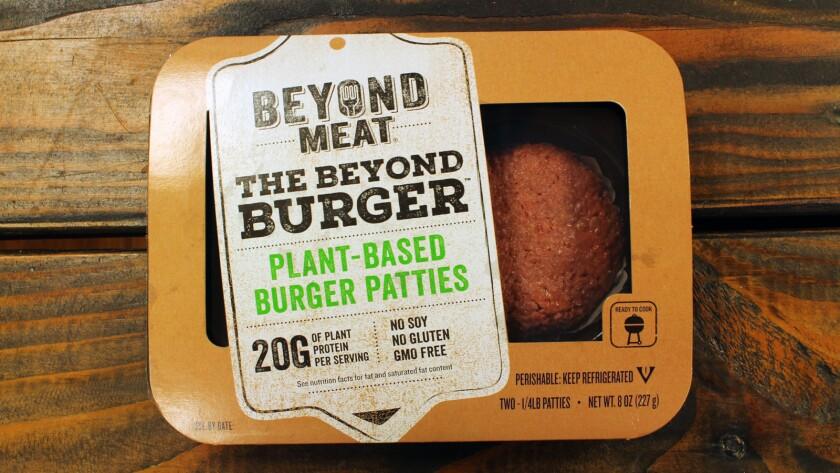 The Beyond Meat Beyond Burger patties.
