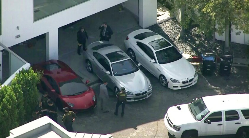 One man was arrested Thursday after deputies raided a home in the Hollywood Hills n connection with a deadly pursuit earlier this month.