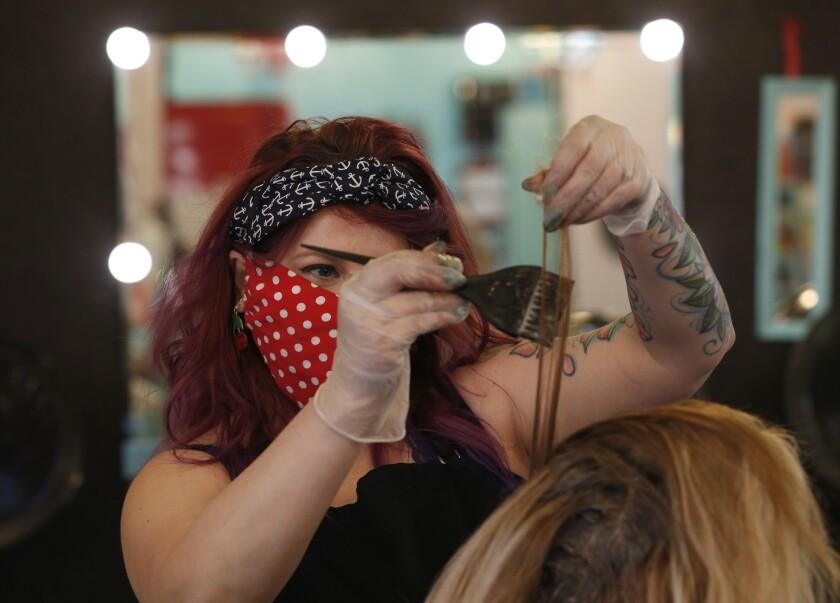 Virus Outbreak California Counties Reopening