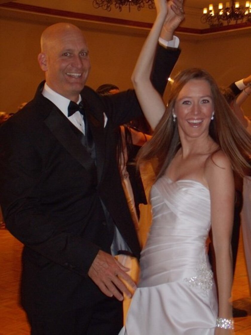 Kelsey O'Neill and her dad, Zachary O'Neill, dancing.