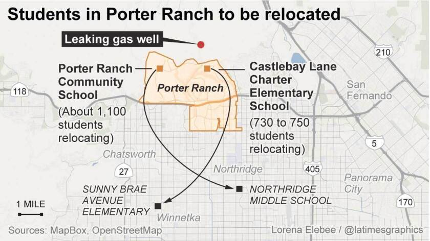 Students in Porter Ranch to be relocated