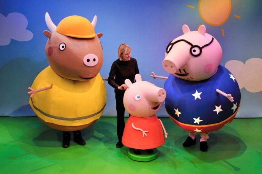 Peppa Pig's puppeteer Alison Grant, along with Peppa's friends, make a stop in Las Vegas during a more than 90-city tour of the United States in 2016.