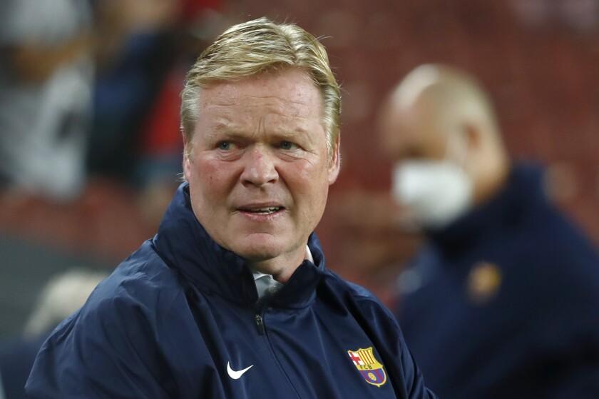 El técnico de Barcelona Ronald Koeman fotografiado durante el empate 1-1 con Granada