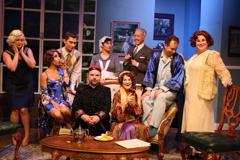 """The cast of Noel Coward's """"Hay Fever,"""" directed by Greg Cohen, which runs at the Attic Theater in Santa Ana through Sept. 29."""