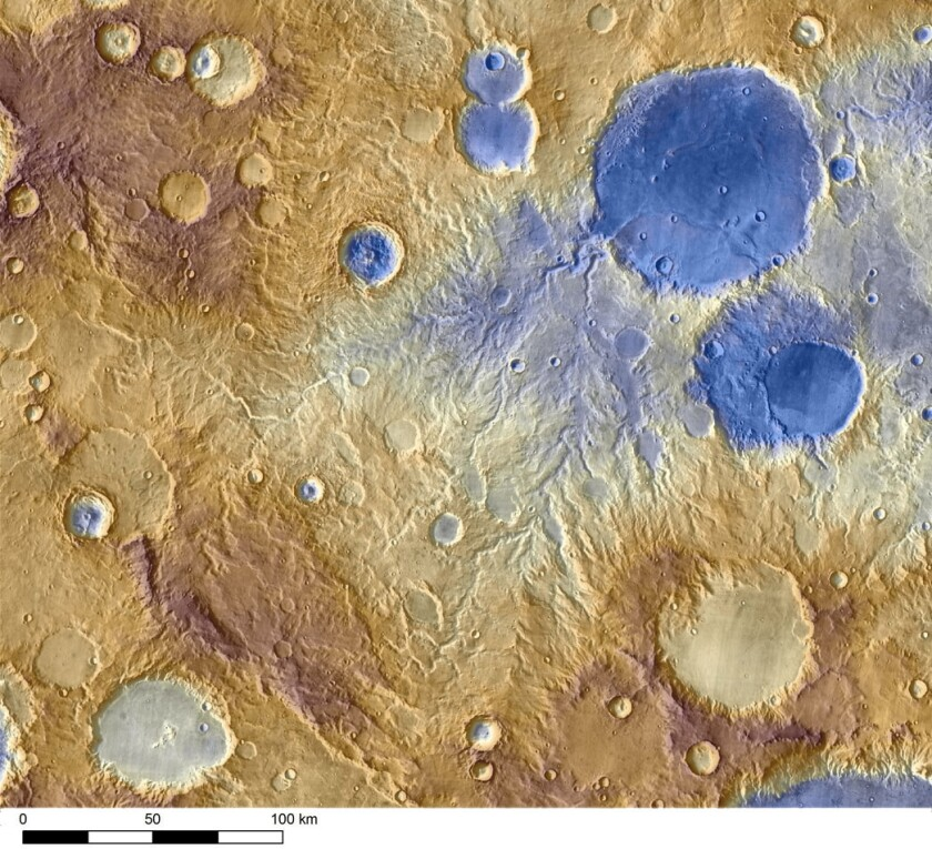 Water that carved into valley slopes on Mars could have been meltwater from snow falling, a paper in Geophysical Research Letters shows.