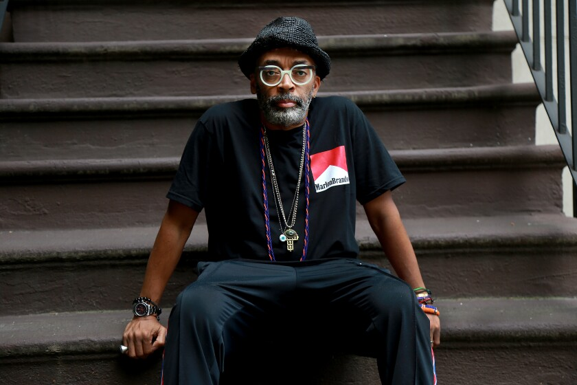 Director Spike Lee photographed by The Times in New York on May 29