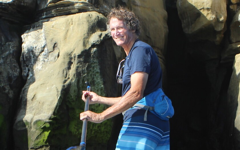 Jeff Koch (pronounced 'Cook') returns to the scene of the 1977 rescue that made him the namesake of the Koch's Crack sea cave at La Jolla Cove.