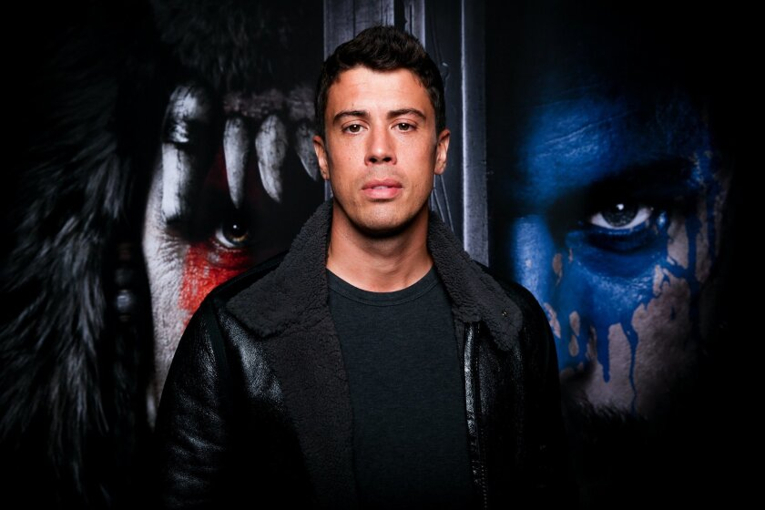 "Toby Kebbell poses for a portrait during Blizzcon at the Anaheim Convention Center on Friday, Nov. 6, 2015, in Anaheim, Calif. A trailer for the film adaptation of the long-running interactive fantasy series debuted to thunderous applause Friday at the fan convention.""Warcraft"" filmmaker Duncan Jon"