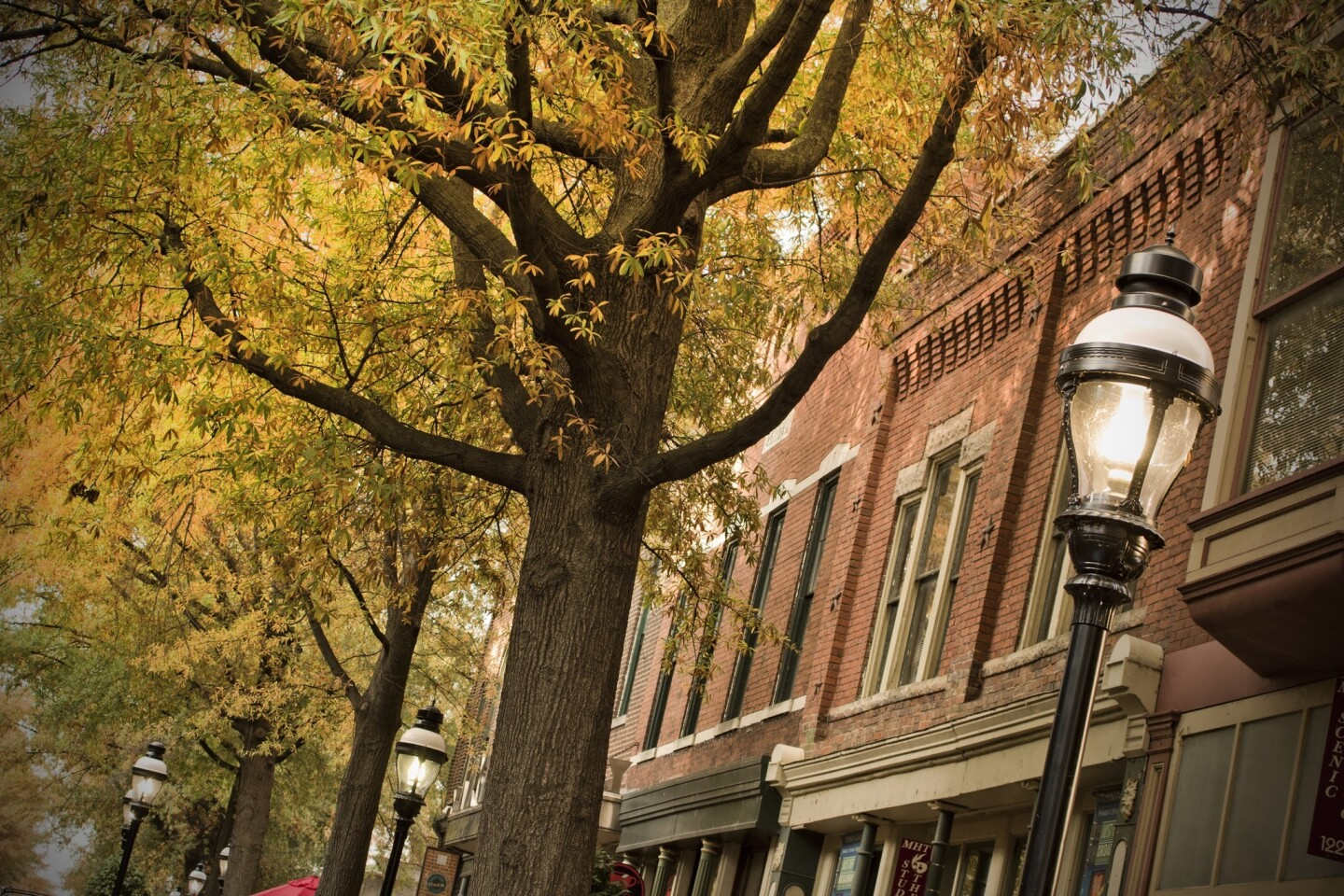 The historic district of Paducah, Ky., is a good place to grab a foliage photo and enjoy a stroll.
