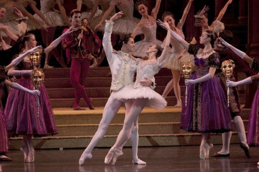 Victoria Jaiani is Cinderella and Mauro Villanueva is the Prince in Joffrey Ballet's L.A. production.